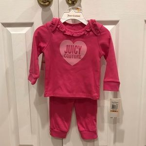 NWT Juicy Couture Matching Set Pink Baby Girl